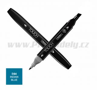 B64 Indian blue TOUCH Twin Marker