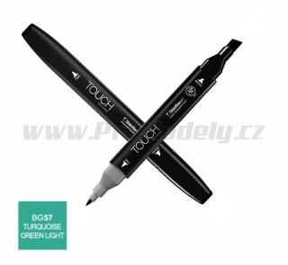 BG57 Turquoise green light TOUCH Twin Marker