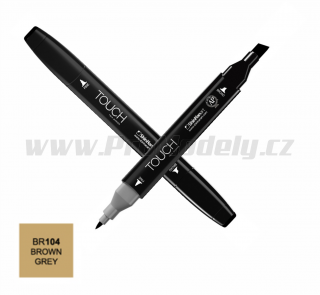 BR104 Brown grey TOUCH Twin Marker