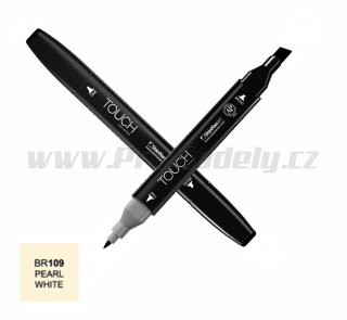BR109 Pearl white TOUCH Twin Marker