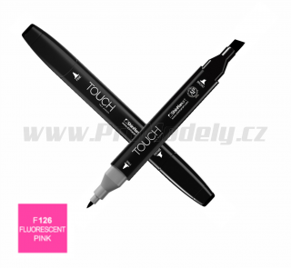 F126 Fluorescent pink TOUCH Twin Marker