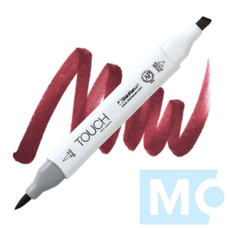 R1 Wine red TOUCH Twin Brush Marker