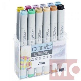 Copic Original 12ks, pastelové tóny